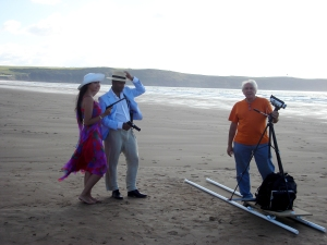 Actors Dawn & Akram with Keith at the camera.