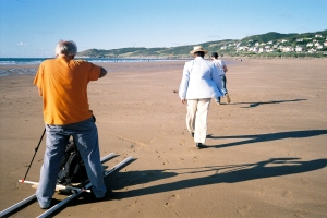 Film team in action