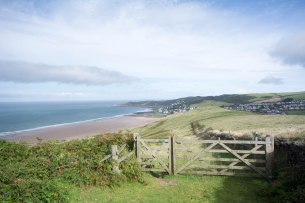 Woolacombe from gate