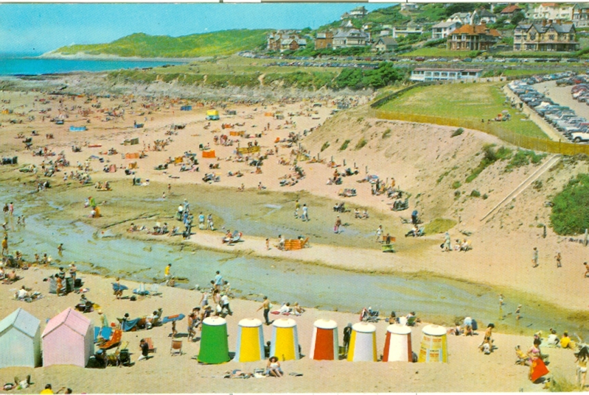 21 Woolacombe Beach with Domed beach huts0001