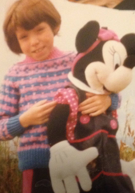 me with minnie mouse on the sand dunes.